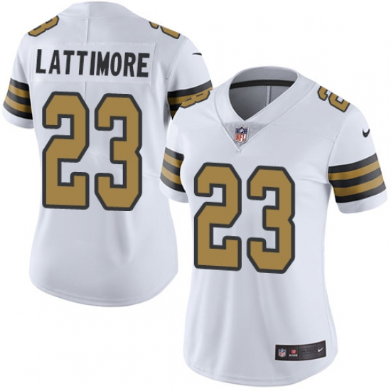 64cdfa66b ... salute to service ad35b 91f80  good womens nike new orleans saints 23  marshon lattimore limited white rush vapor untouchable nfl jersey