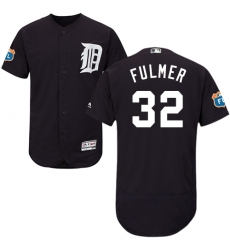 7456161a6 Men s Majestic Detroit Tigers  32 Michael Fulmer Navy Blue Flexbase  Authentic Collection MLB Jersey