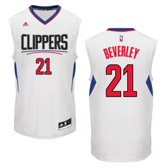 Men s Adidas Los Angeles Clippers  21 Patrick Beverley Authentic White Home NBA  Jersey 05cce1d04