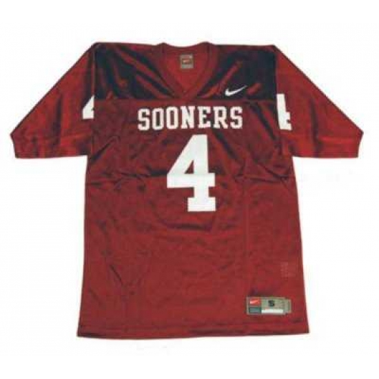 best loved 15b25 8a323 Sooners #4 Red Embroidered NCAA Jersey,officialjerseysite ...