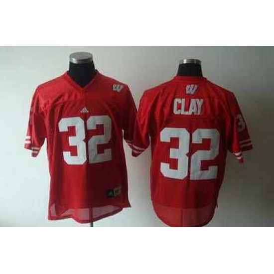 wholesale dealer 56274 66ae5 Badgers #32 Red Embroidered NCAA Jersey,officialjerseysite ...