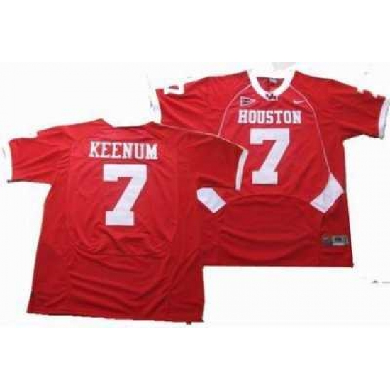 best service 959bd f6c06 NCAA Houston Cougars #7 KEENUM red jerseys ...