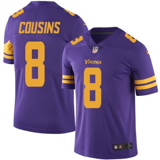 newest 5a1ad 6cbb8 Men's Nike Minnesota Vikings #8 Kirk Cousins Limited Purple ...