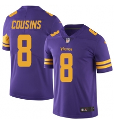 size 40 0cbe4 594df Men's Nike Minnesota Vikings #8 Kirk Cousins Game Purple ...