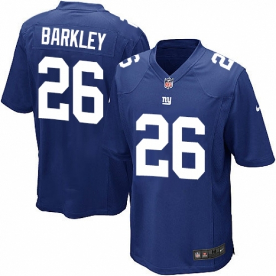 Wholesale Men's Nike New York Giants #26 Saquon Barkley Game Royal Blue Team  for sale