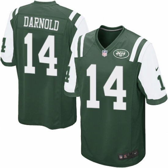 pretty nice f49d8 1d049 Men's Nike New York Jets #14 Sam Darnold Game Green Team ...