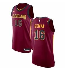 242b4e6ef9ae Men s Nike Cleveland Cavaliers  16 Cedi Osman Authentic Maroon NBA Jersey -  Icon Edition