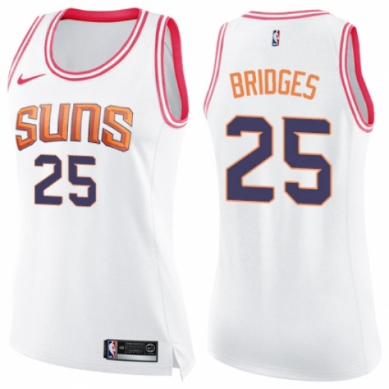 3f6a9b2b7 ... discount womens nike phoenix suns 25 mikal bridges swingman white pink  fashion nba jersey 32736 09e15 ...