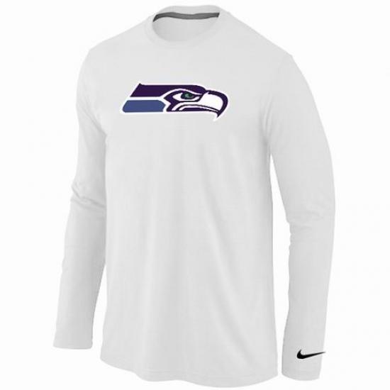 1c8c6574 ... best nike seattle seahawks team logo long sleeve nfl t shirt white  fd252 fc777
