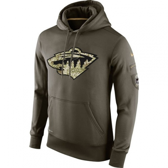 best loved 0ed8a 20d01 NHL Men's Minnesota Wild Nike Olive Salute To Service KO ...