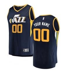 68f9f9b83631 Men s Utah Jazz Fanatics Branded Navy Fast Break Custom Replica Jersey -  Icon Edition