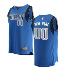 b1167adee Men s Dallas Mavericks Fanatics Branded Blue Fast Break Custom Replica  Jersey - Icon Edition
