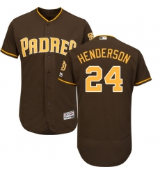 Men s Majestic San Diego Padres  24 Rickey Henderson Brown Alternate Flex  Base Authentic Collection MLB c4b759fe9