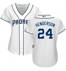 Women s Majestic San Diego Padres  24 Rickey Henderson Replica White Home  Cool Base MLB Jersey 44a0beb90