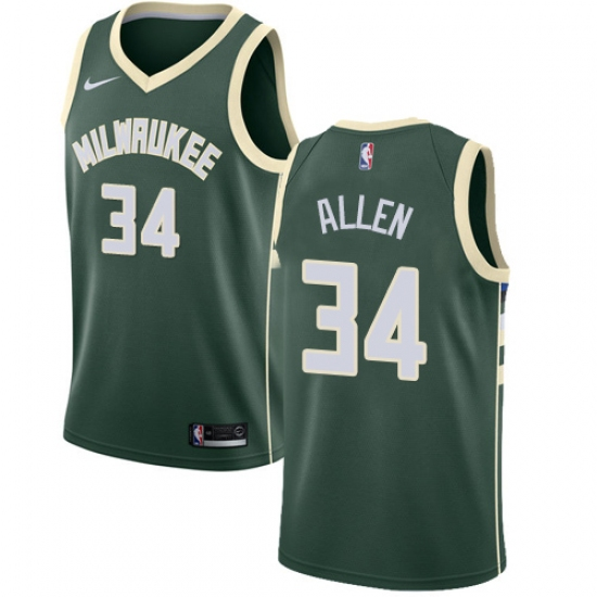 4bb7c45a9 ... reduced youth nike milwaukee bucks 34 ray allen swingman green road nba  jersey icon edition 81d88 ...