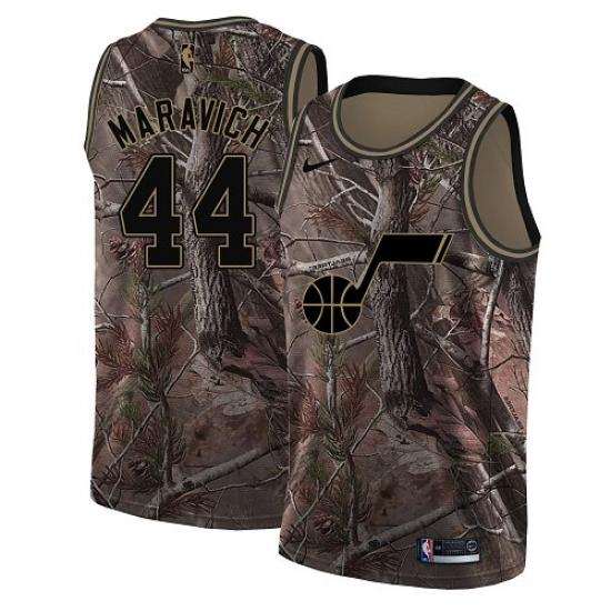 ed62301bbbca Youth Nike Utah Jazz  44 Pete Maravich Swingman Camo Realtree Collection NBA  Jersey