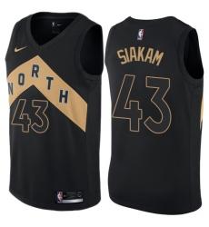 Women s Nike Toronto Raptors  43 Pascal Siakam Swingman Black NBA Jersey - City  Edition 79835d5e9
