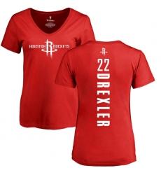 c8ad3eb0b Men s Nike Houston Rockets  22 Clyde Drexler Swingman Red NBA Jersey ...