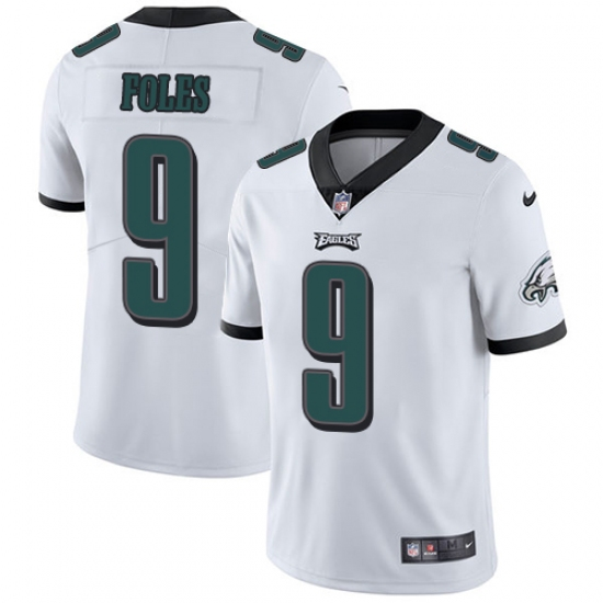 3b7b4073737 Men's Nike Philadelphia Eagles #9 Nick Foles White Vapor Untouchable Limited  Player NFL Jersey